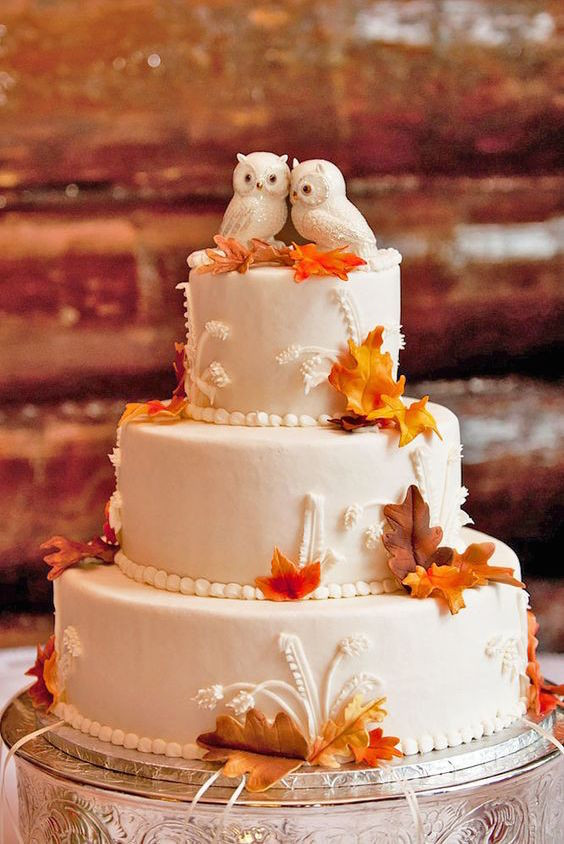 Simple Fall Wedding Cakes  45 Classy And Elegant Wedding Cakes Graceful Inspiration