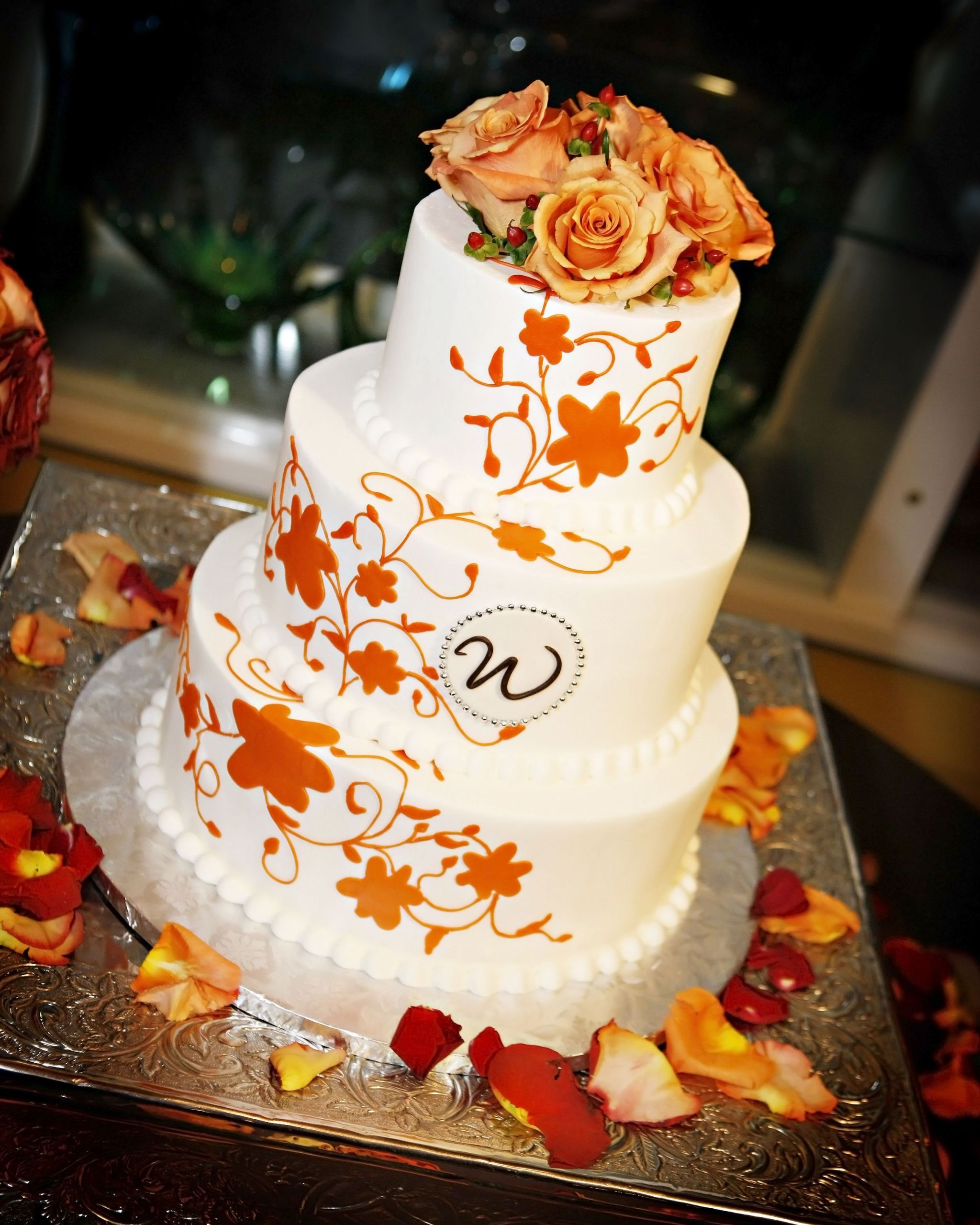 Simple Fall Wedding Cakes  Beautiful fall inspired wedding cake
