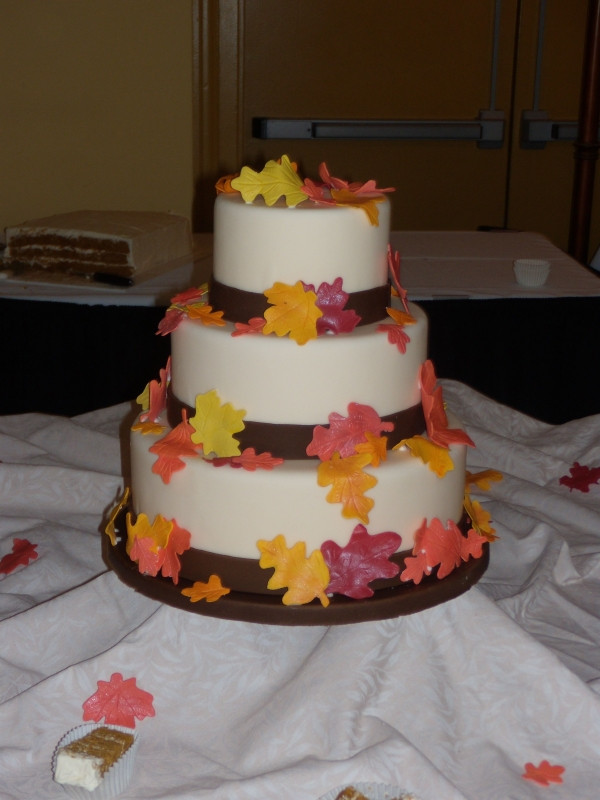Simple Fall Wedding Cakes  Christina s blog The groomsmen dressed in the part of the