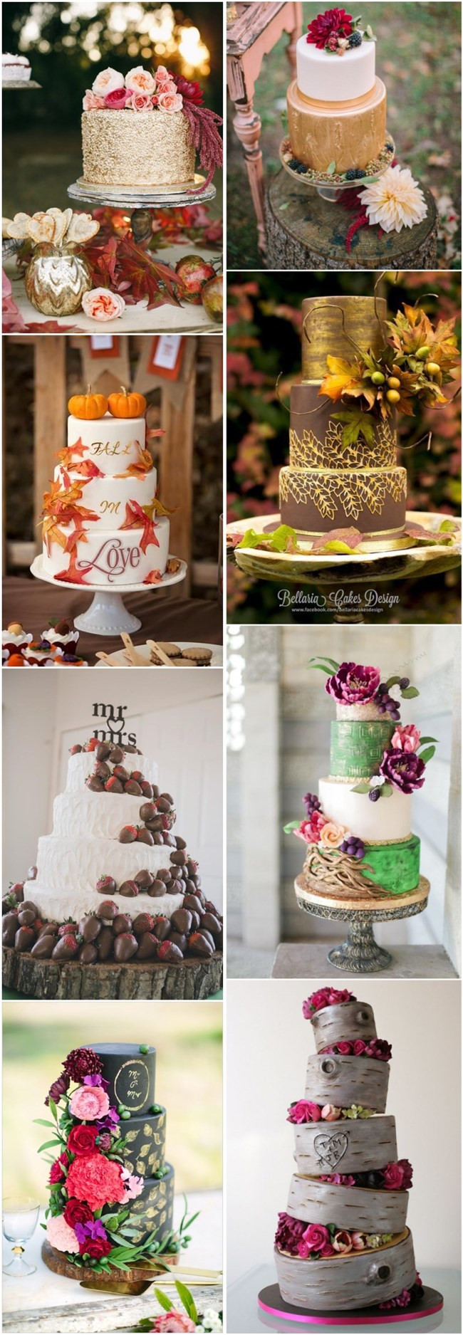 Simple Fall Wedding Cakes  45 Incredible Fall Wedding Cakes that WOW