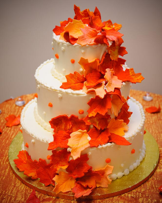 Simple Fall Wedding Cakes  Simple Fall Wedding Cakes Wedding and Bridal Inspiration