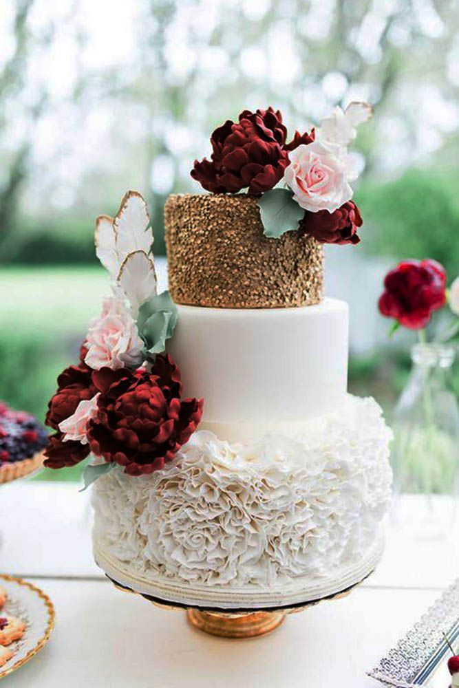 Simple Fall Wedding Cakes  Burgundy Wedding Best Ideas For Fall Wedding