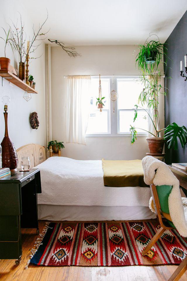 Small Bedroom Plants  Bohemian Minimalist Decor