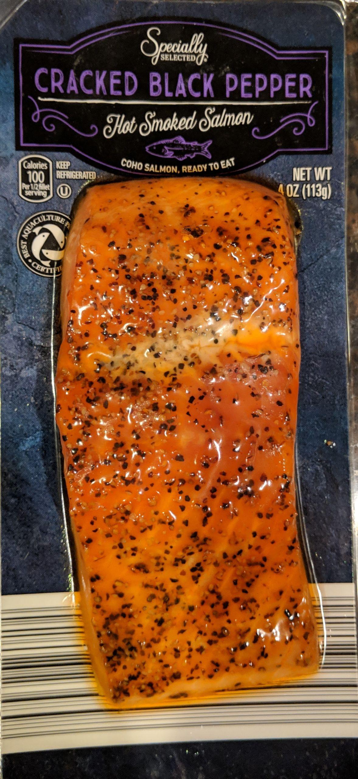 Smoked Salmon Brands  I Ate ALDI Cracked Black Pepper Hot Smoked Salmon