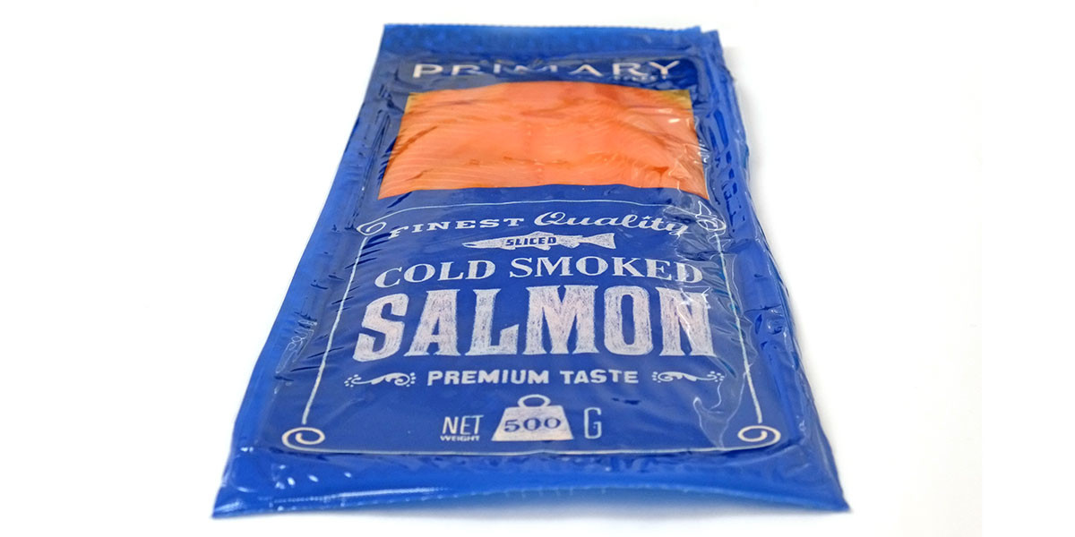 Smoked Salmon Brands  Primary Select smoked salmon packaging design Angle