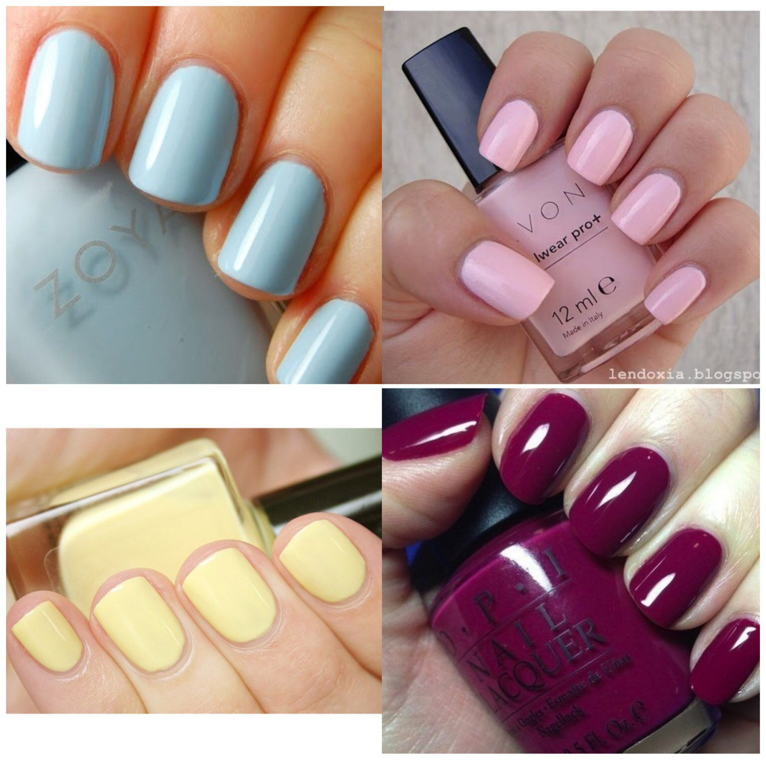 Solid Nail Colors  Winter Spring Summer Fall solid color nails
