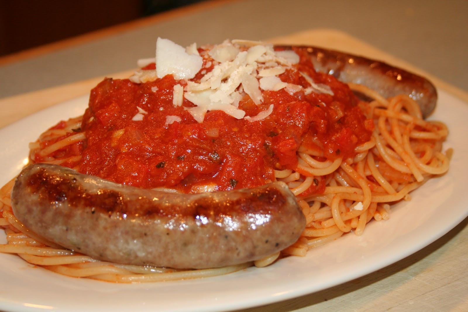 Spaghetti With Italian Sausage  COOK WITH SUSAN Easy Italian Tomato Sauce