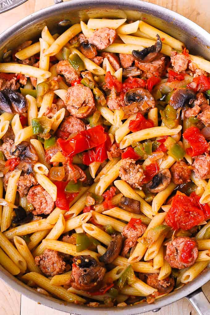 Spaghetti With Italian Sausage  Italian Sausage Pasta with Ve ables Julia s Album