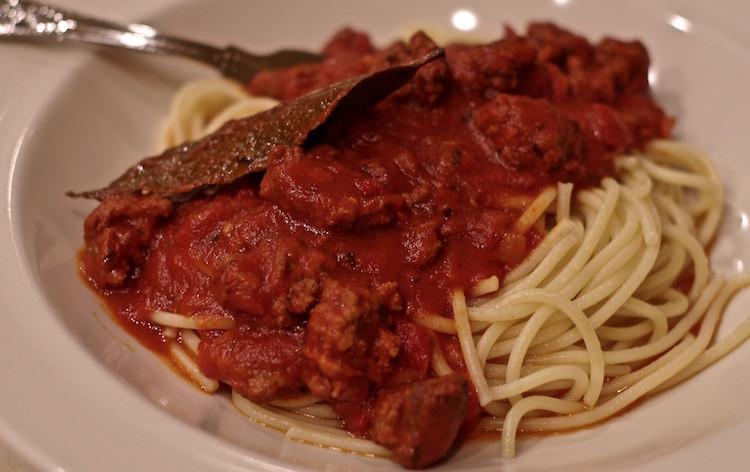 Spaghetti With Italian Sausage  Spaghetti Sauce with Italian Sausage Feeding the Famished