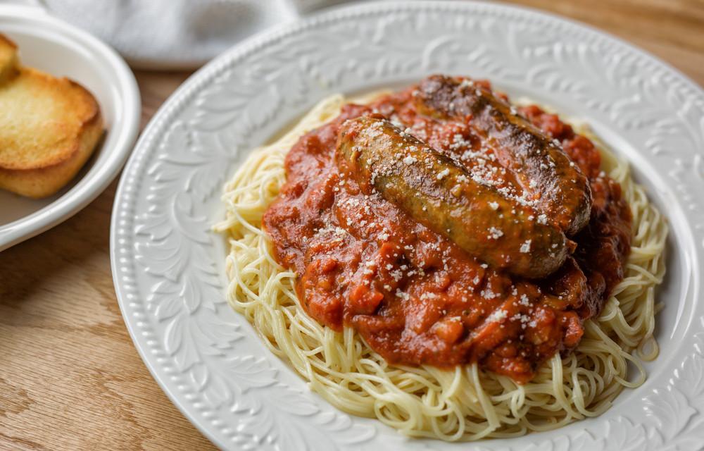 Spaghetti With Italian Sausage  Instant Pot Italian Sausage and Pasta with Marinara sauce