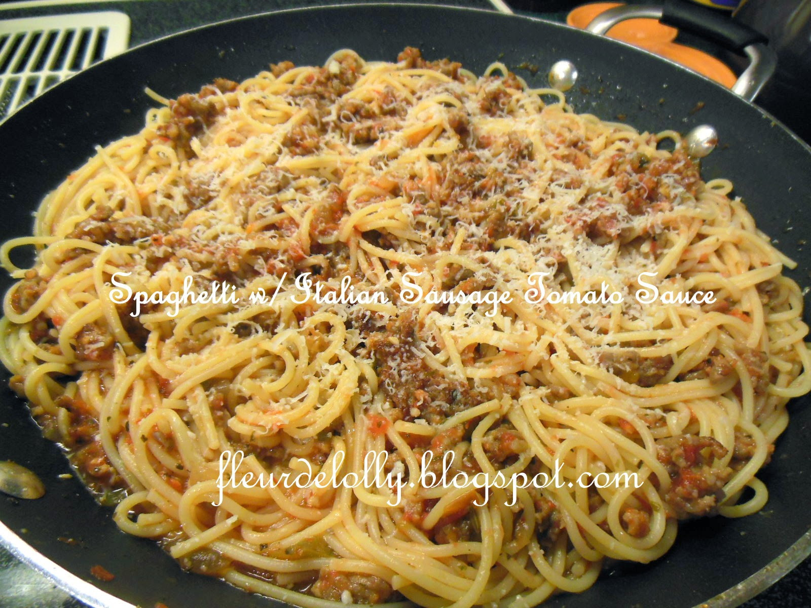 Spaghetti With Italian Sausage  Fleur de Lolly Spaghetti with Italian Sausage and Home