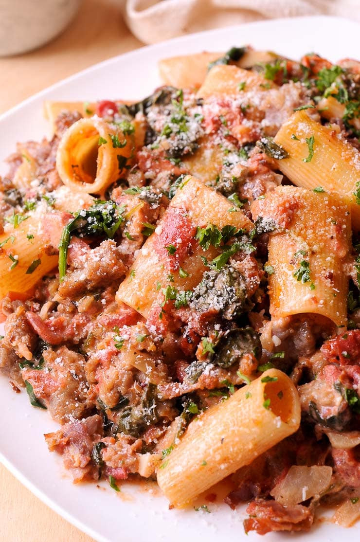 Spaghetti With Italian Sausage  Italian Sausage Pasta What s In The Pan