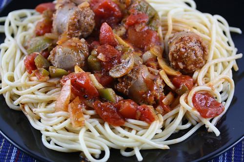 Spaghetti With Italian Sausage  Italian Sausage Spaghetti Recipe