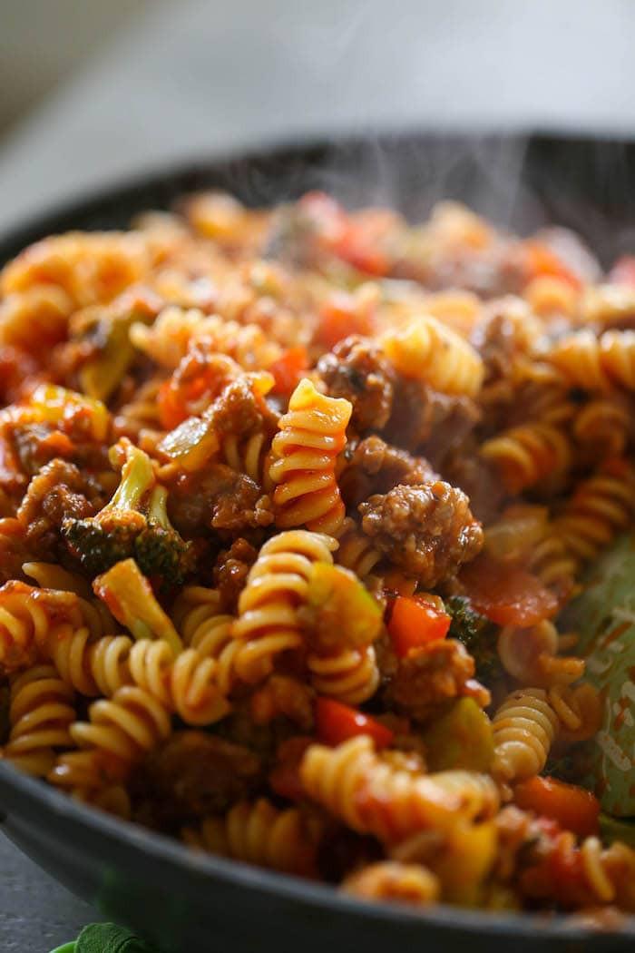 Spaghetti With Italian Sausage  Italian Sausage & Peppers Pasta Lauren s Latest