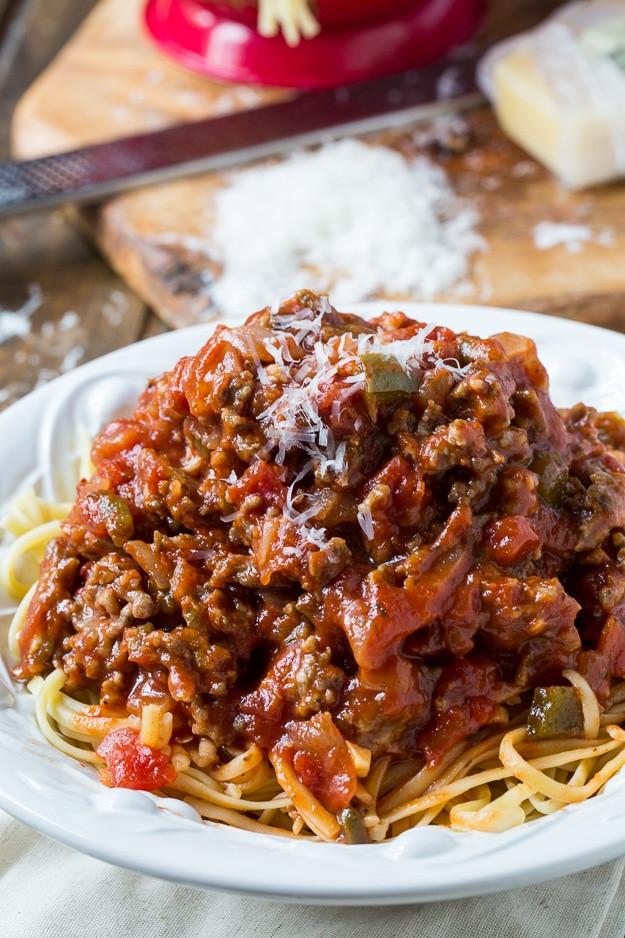 Spaghetti With Italian Sausage  Southern Sausage Spaghetti Sauce Spicy Southern Kitchen