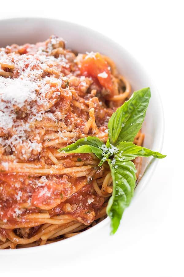 Spaghetti With Italian Sausage  Spaghetti with Italian Sausage Red Sauce The Lemon Bowl