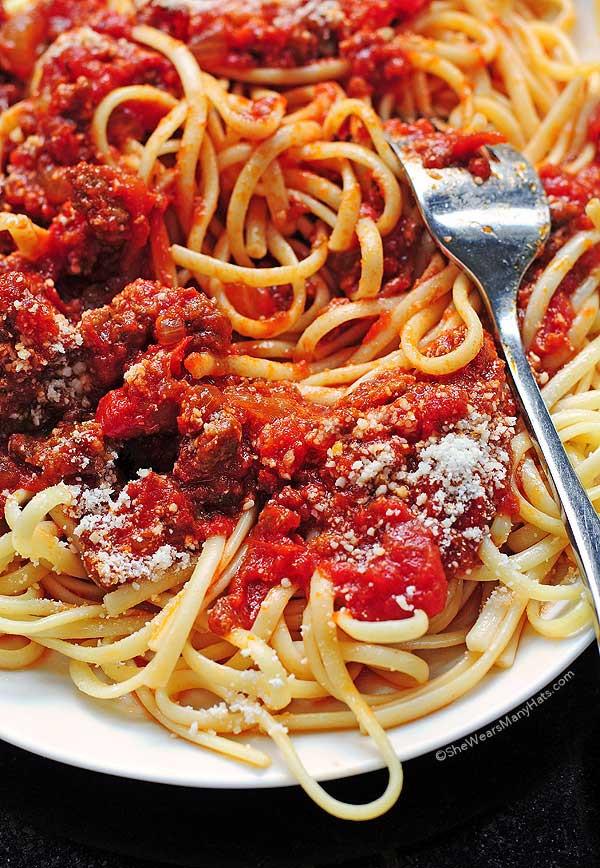 Spaghetti With Italian Sausage  Spaghetti Sauce Recipe