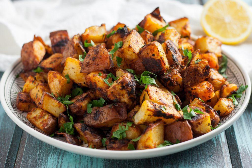 Spain Side Dishes  Crispy Oven Roasted Spanish Potatoes Goo Godmother