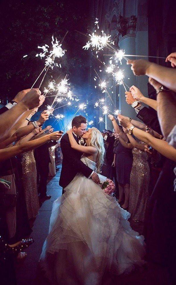 Sparkler Wedding Exit  20 Sparklers Send f Wedding Ideas for 2018 Oh Best Day