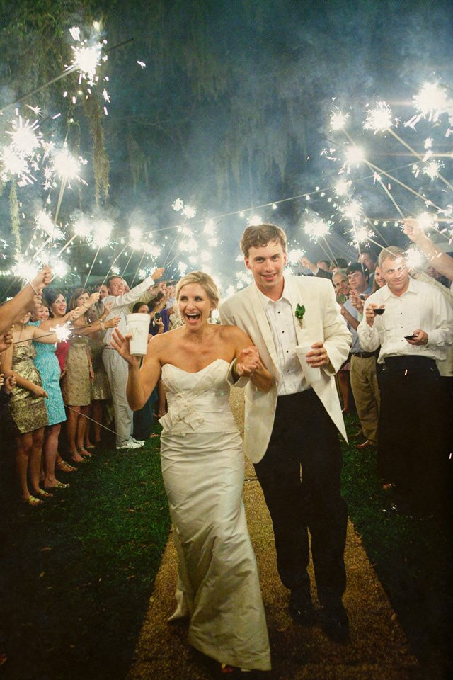 Sparkler Wedding Exit  Wedding How To The Sparkler Exit Floridian Social