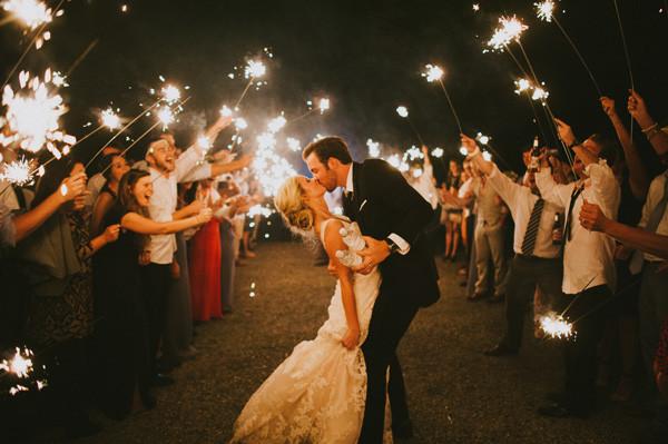 Sparkler Wedding Exit  southern wedding sparkler exit
