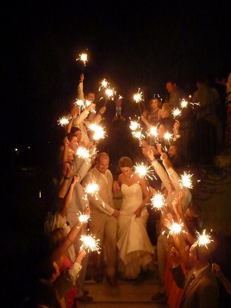 Sparkler Wedding Exit  Wedding Exit Sparkler Alternatives