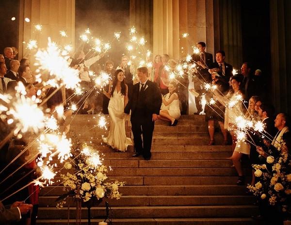 Sparkler Wedding Exit  Go Out With A Bang Coordinating Sparkler Exits