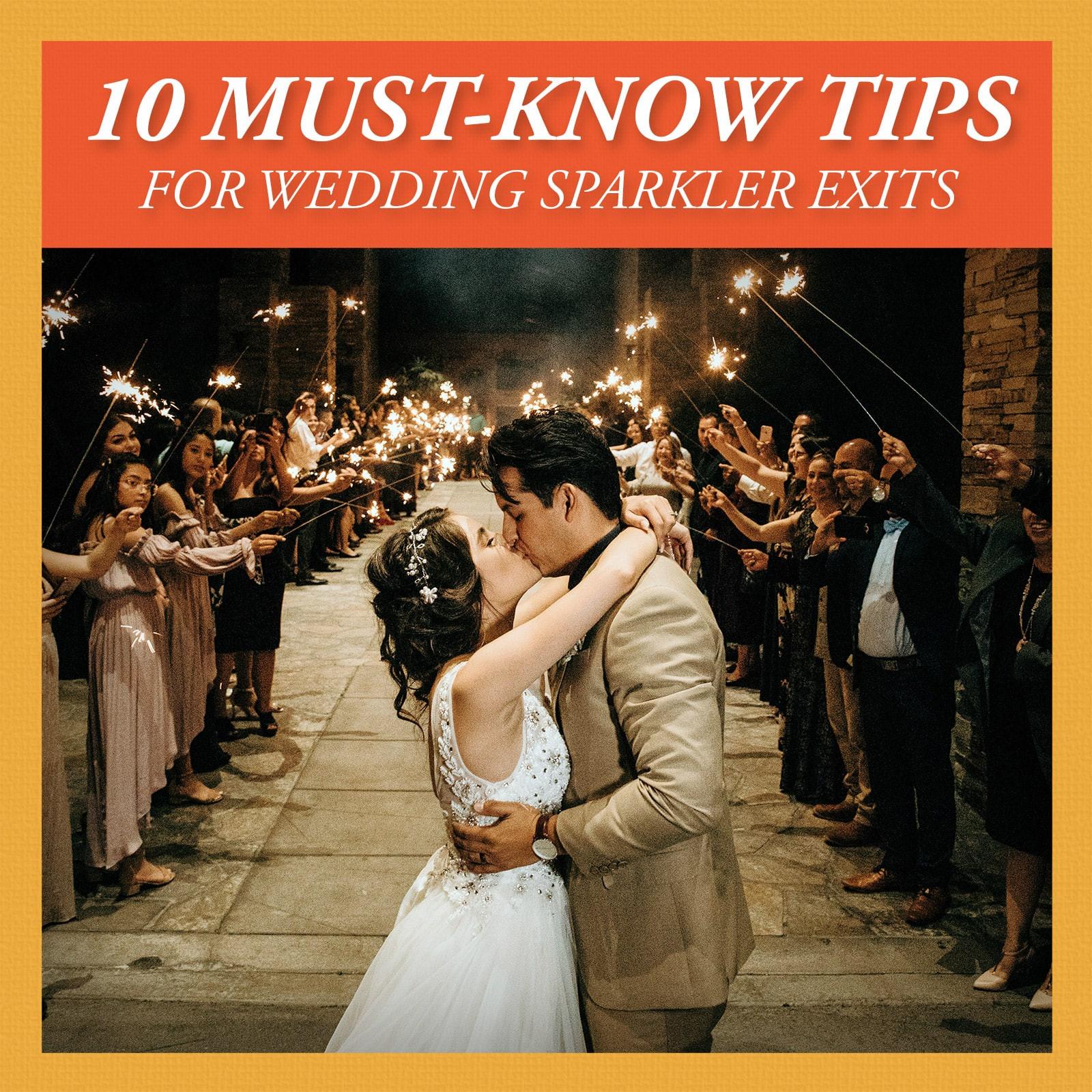 Sparkler Wedding Exit  Using Sparklers for Your Wedding Exit Send f A