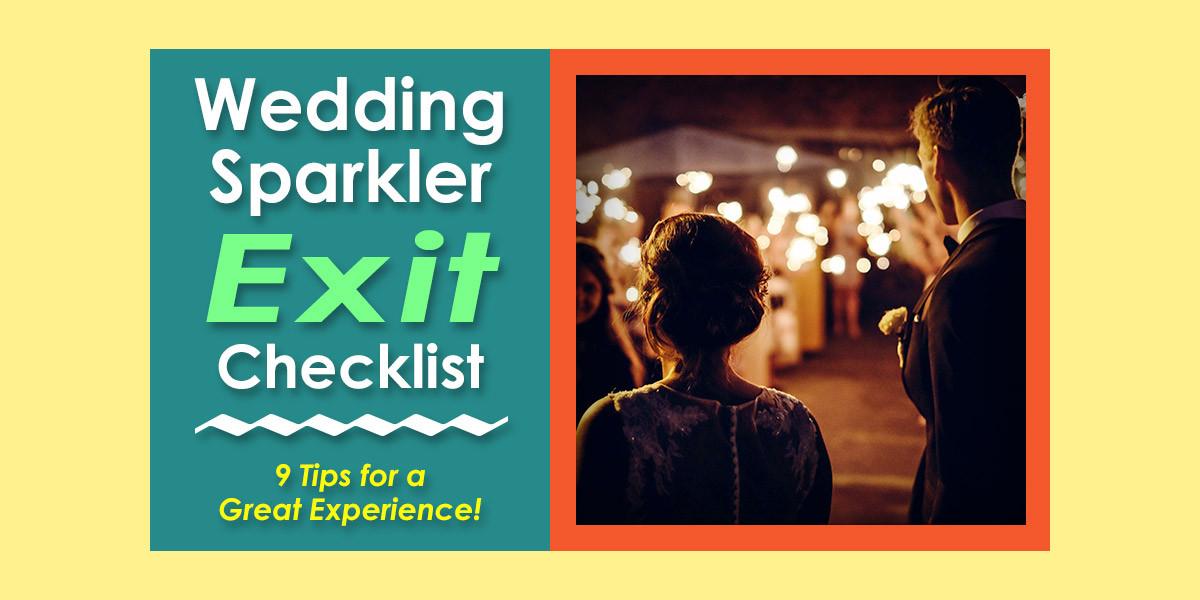 Sparkler Wedding Exit  Wedding Sparkler Exit 9 Tips for Send fs at Weddings