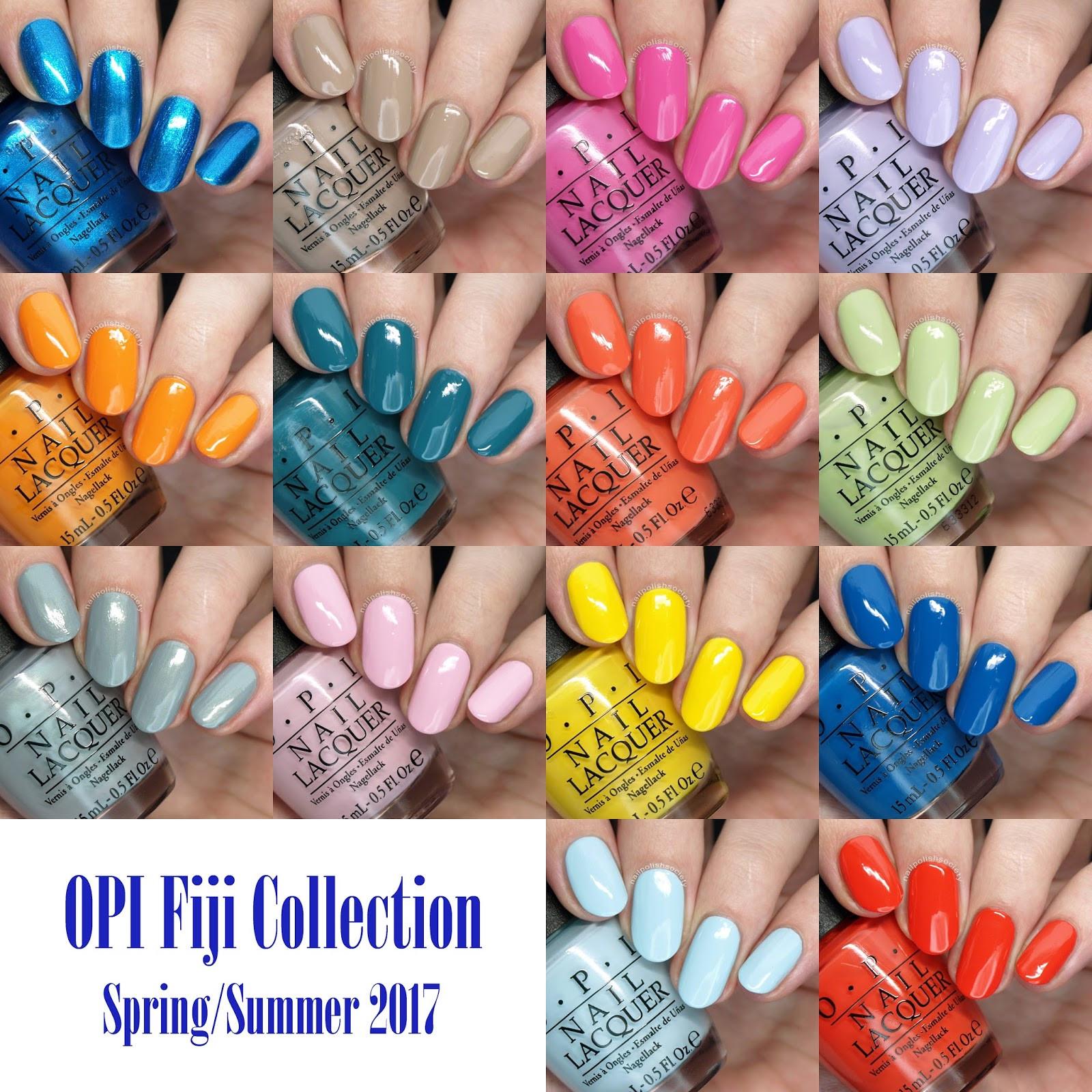 Spring Nail Colors Opi  Nail Polish Society OPI Spring Summer 2017 Fiji Collection