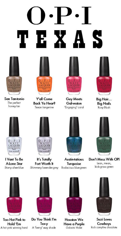 Spring Nail Colors Opi  OPI Texas Nail Polish Collection for Spring 2011
