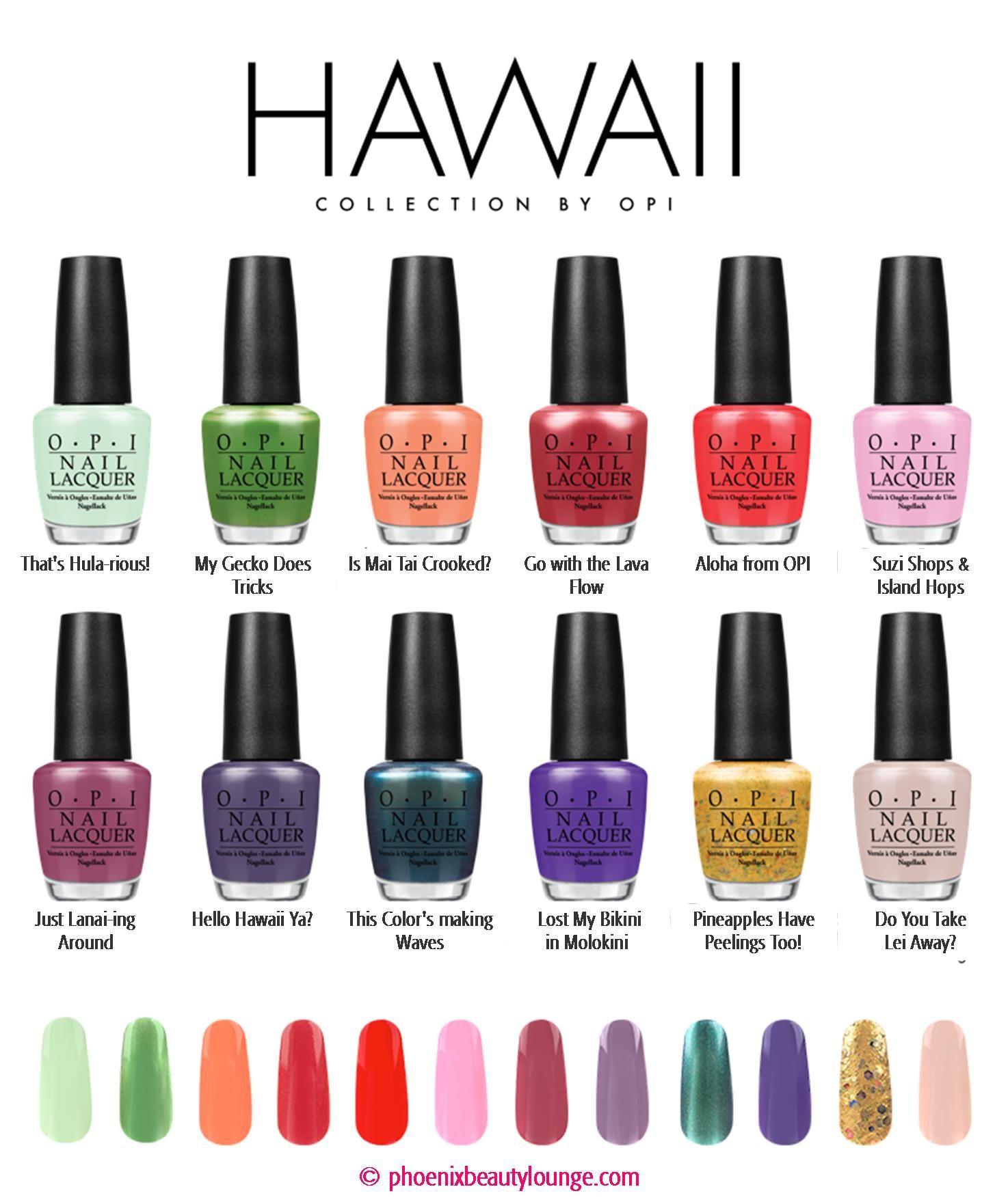 Spring Nail Colors Opi  OPI Hawaii Collection Spring Summer 2015