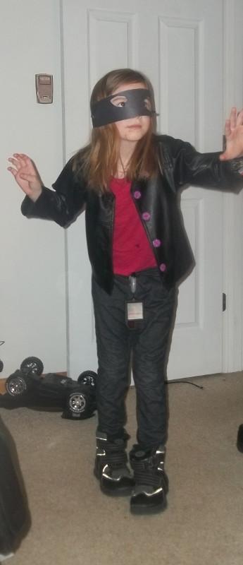 Spy Costume DIY  What She s Wearing Kid Creations Homemade Ninja Spy