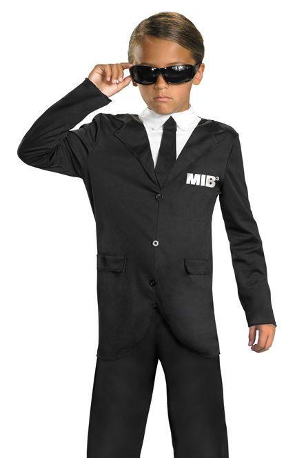 Spy Costume DIY  Kids Men in Black 3 Agent J K Licensed Halloween Costume
