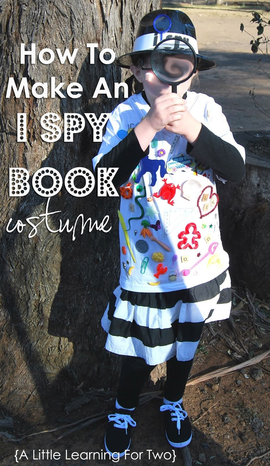 Spy Costume DIY  A Little Learning For Two I Spy Book Costume