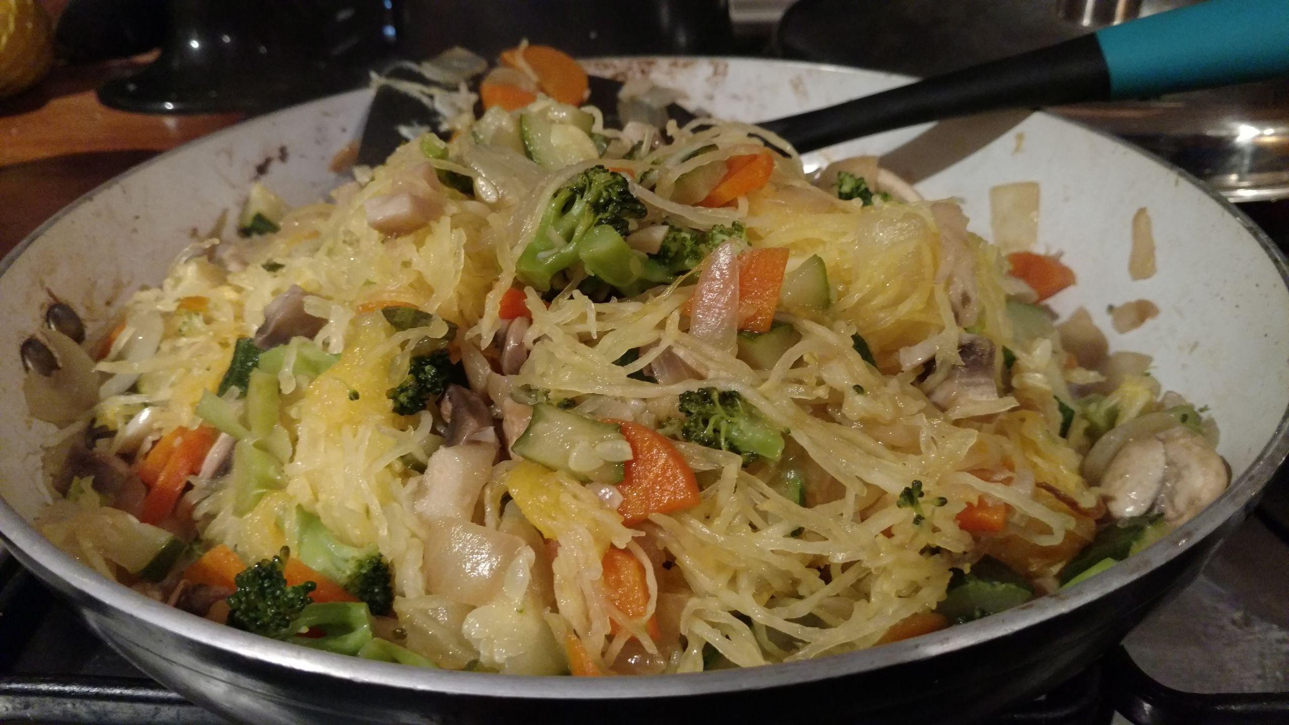 Stir Fry Spaghetti  Chinese Spaghetti Squash Stir Fry Paleo Vegan & Soy free