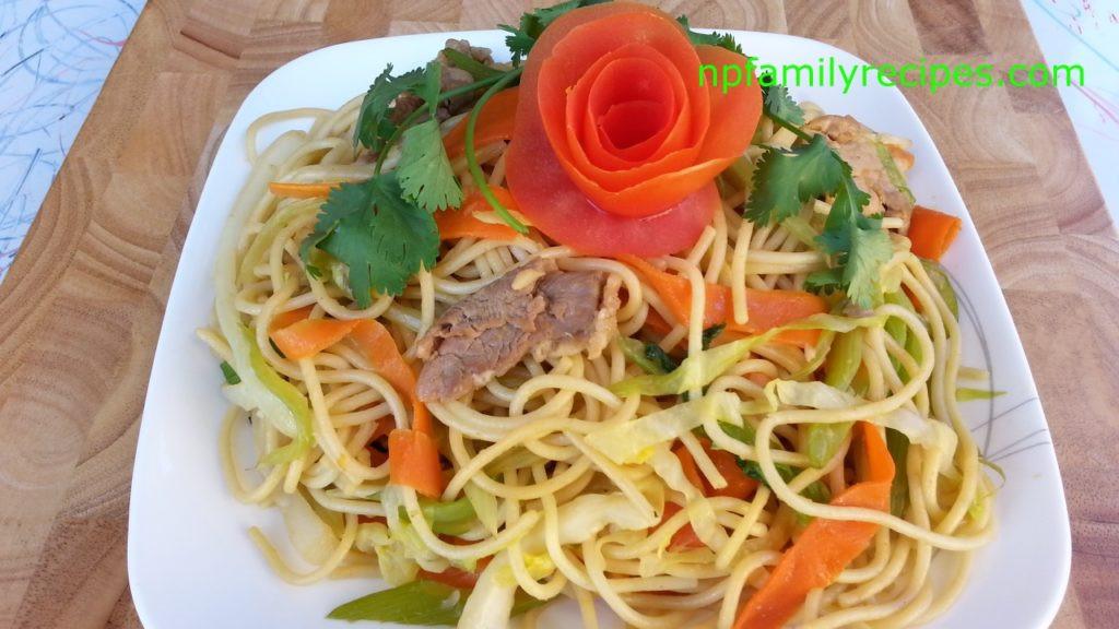 Stir Fry Spaghetti  Stir Fry Spaghetti with Pork Recipe Mì Ý Xào Thịt Heo
