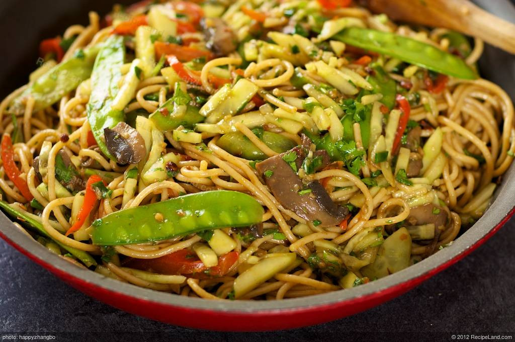 Stir Fry Spaghetti  Asian Stir Fried Spaghetti with Veggies Recipe