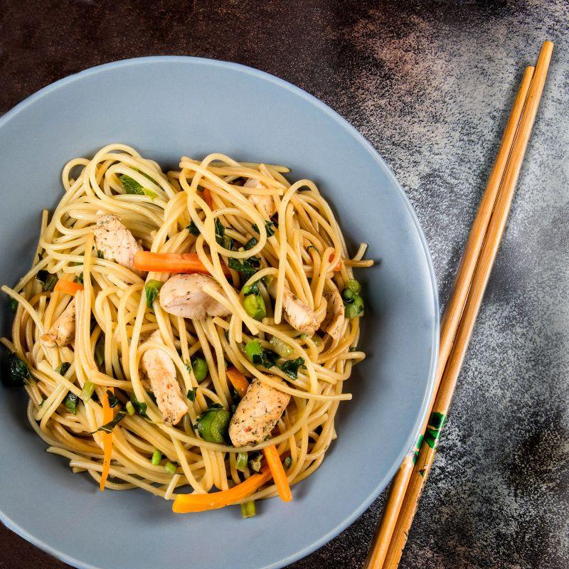 Stir Fry Spaghetti  Recipe Chicken Ve able Stir Fry with Spaghetti