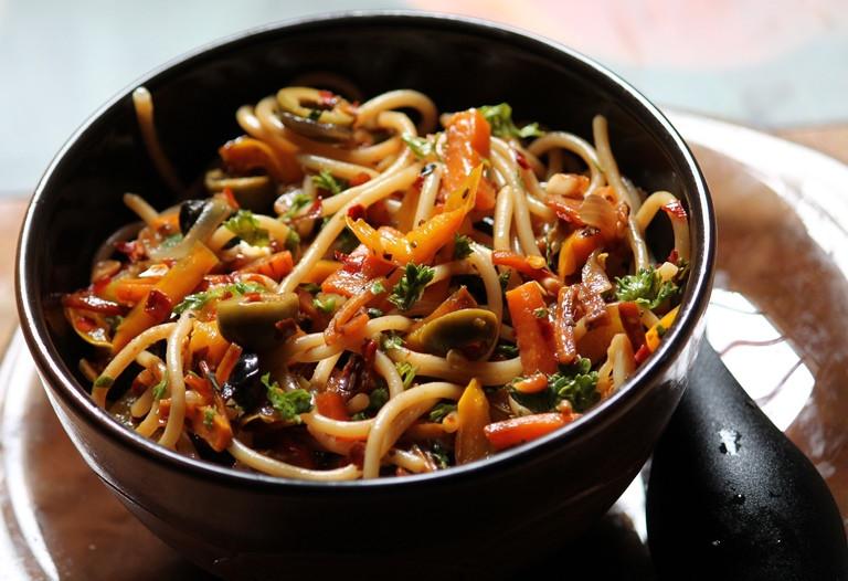 Stir Fry Spaghetti  YUMMY TUMMY Stir Fry Spaghetti Recipe Pasta Stir Fry