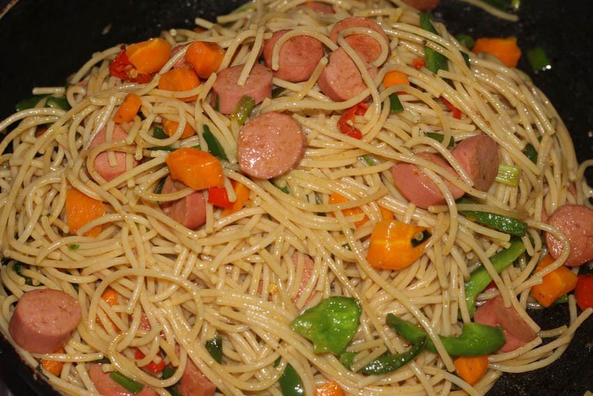 Stir Fry Spaghetti  Naija Fashion Daily Stir Fry Spaghetti Recipe