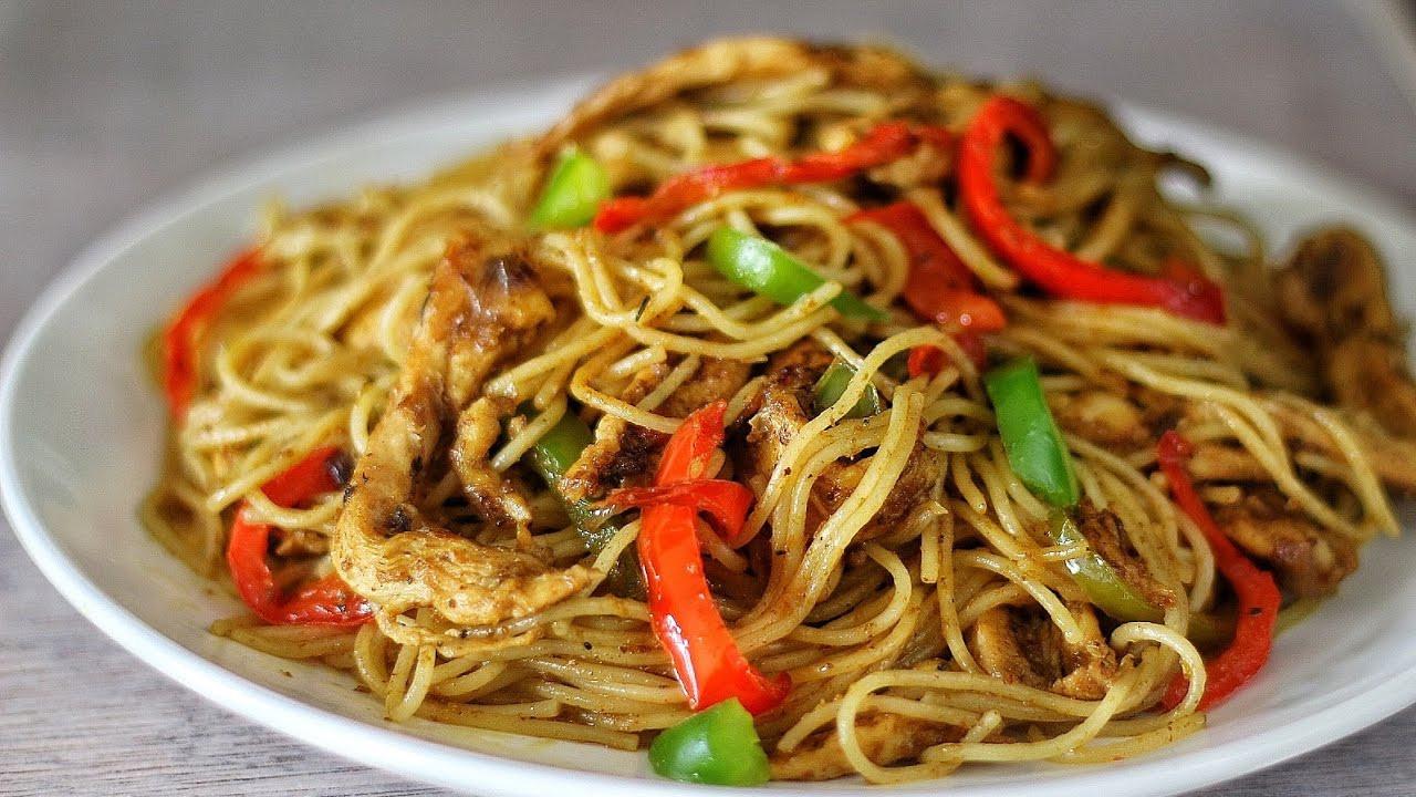 Stir Fry Spaghetti  STIR FRY CHICKEN SPAGHETTI