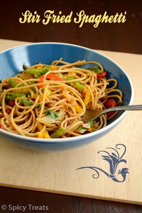 Stir Fry Spaghetti  Spicy Treats Stir Fried Spaghetti Recipe