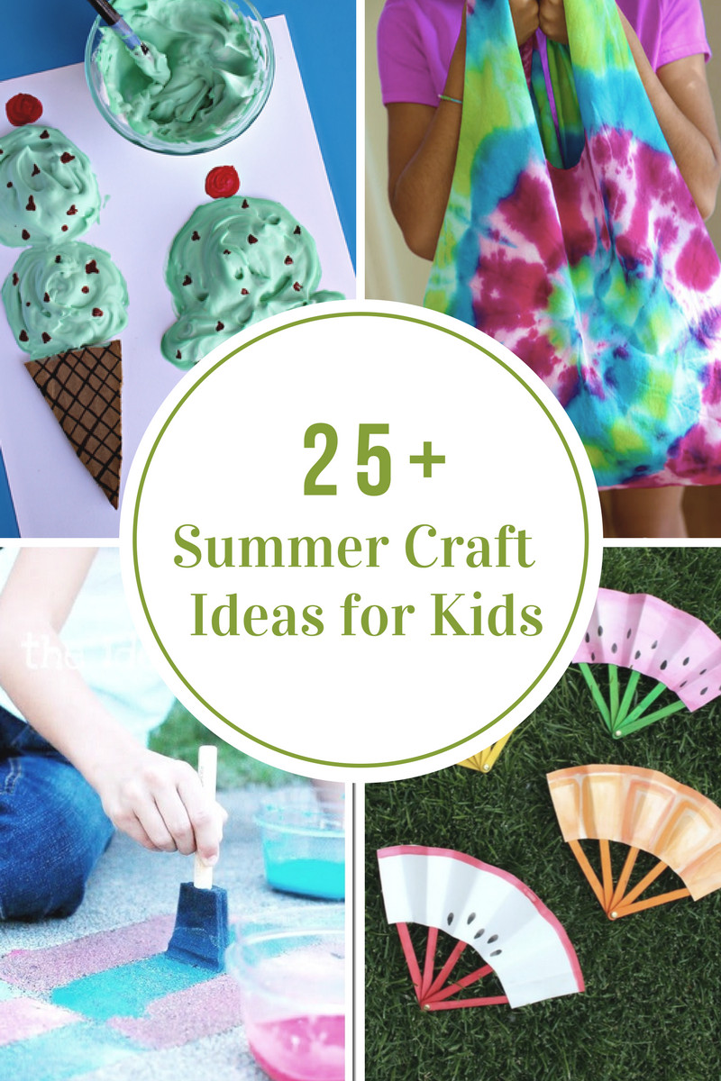 Summer Art Project For Kids  40 Creative Summer Crafts for Kids That Are Really Fun