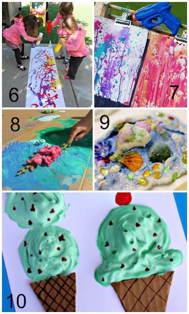 Summer Art Project For Kids  Summer Art Activities for Kids Mess for Less