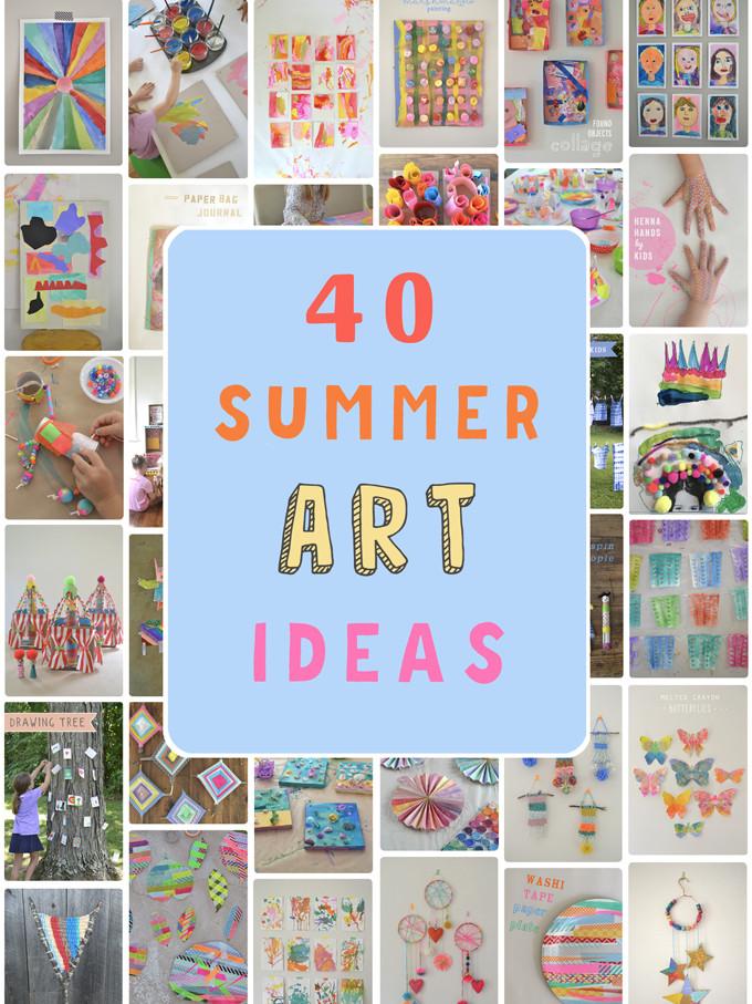 Summer Art Project For Kids  40 Summer Art Ideas for Kids ARTBAR