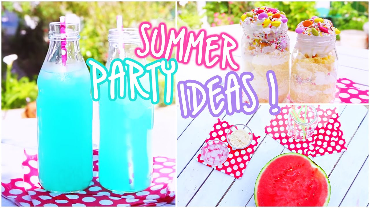 Summertime Party Food Ideas  Summer Party Ideas Snacks & Beverages ♥