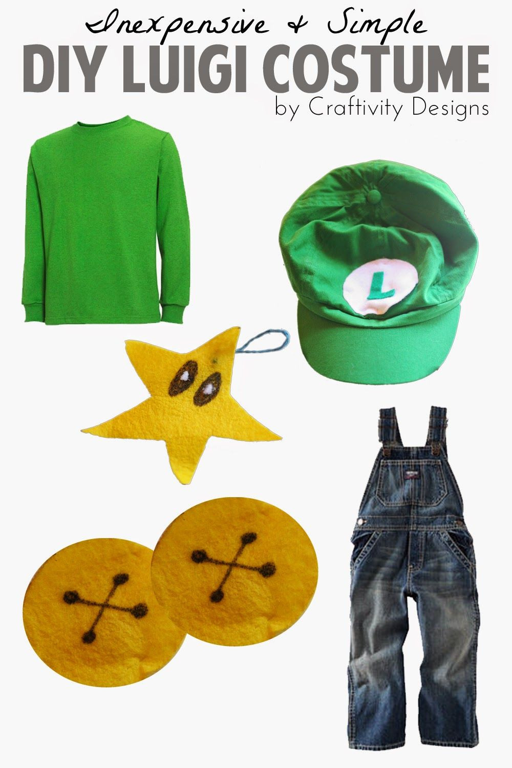 Super Mario Costume DIY  How to make a simple DIY Luigi Costume