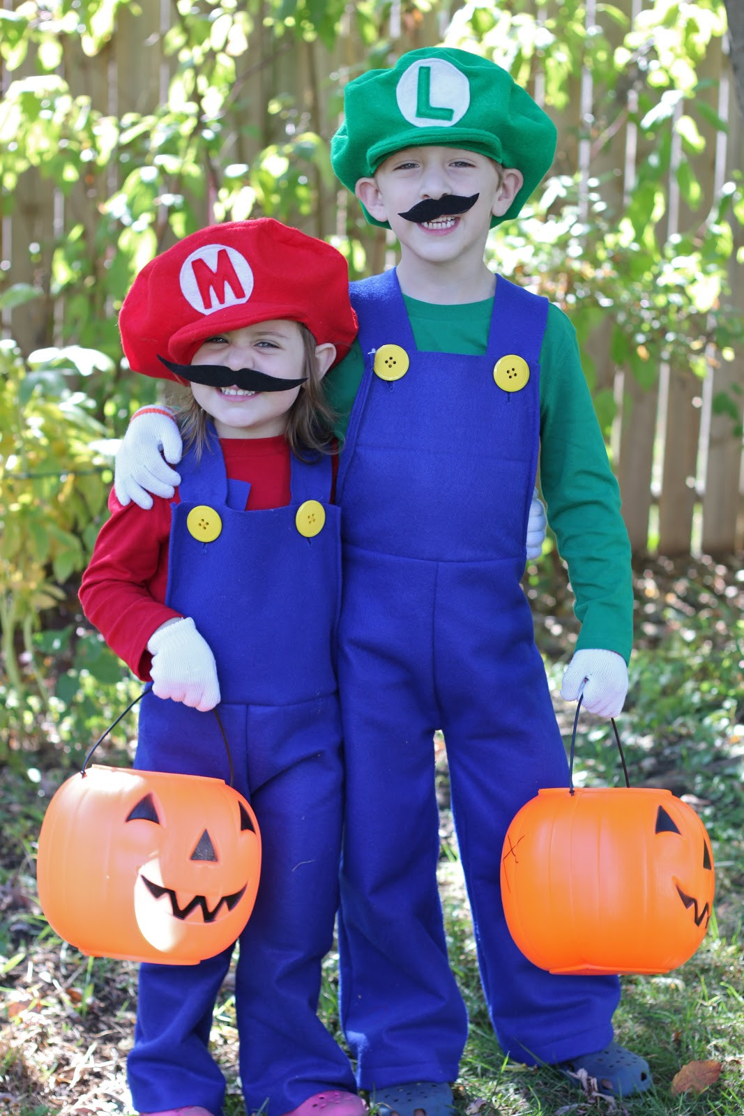 Super Mario Costume DIY  How to Make Mario and Luigi Costumes Tutorial Smashed