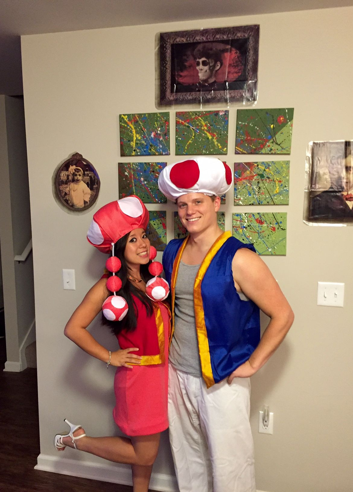 Super Mario Costume DIY  Super Mario Bros Toad and Toadette couple s costume